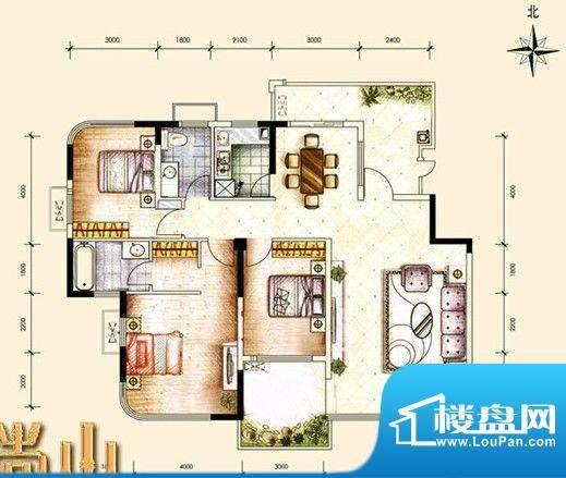尚山未命名3 3室2厅面积:143.00m平米
