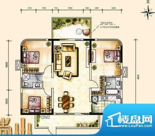 尚山未命名4 3室2厅面积:135.00m平米