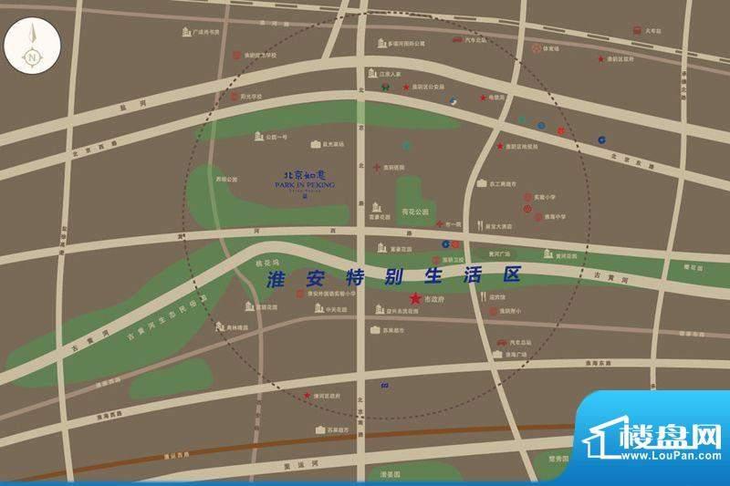 北京如意国际花园交通图