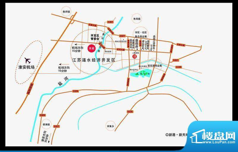 新港·新天地交通图
