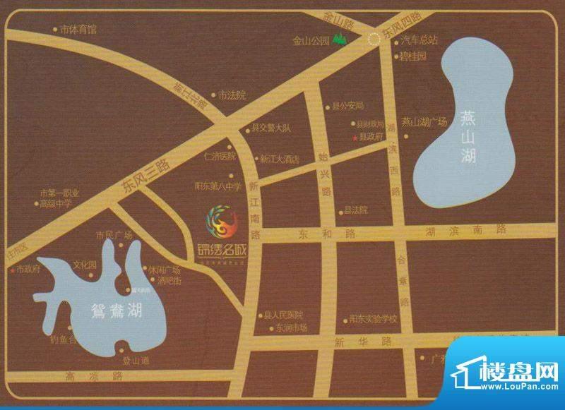 锦绣名城交通图
