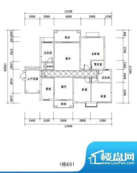 锦绣名城1栋601 面积:0.00m平米