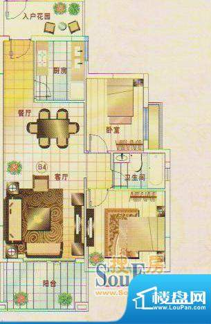 锦绣名城3幢101 2室面积:90.94m平米