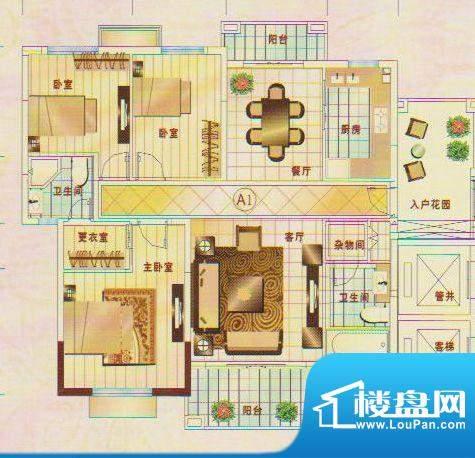 锦绣名城1幢的601 3面积:134.87m平米