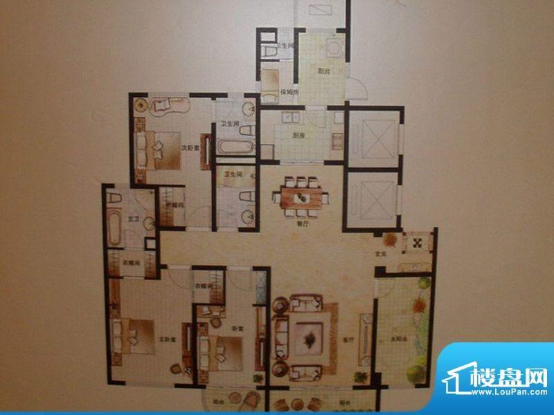 弘辉首馥B1 4室2厅4面积:222.58平米