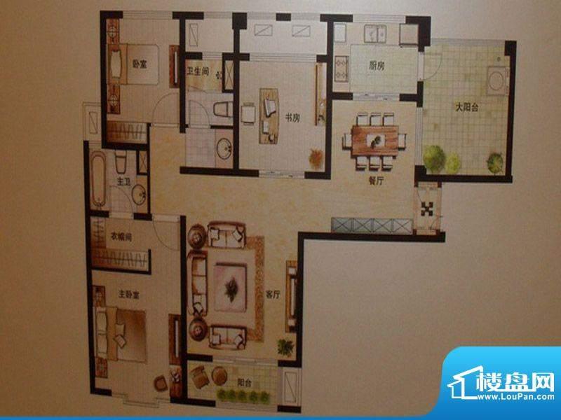 弘辉首馥B3 3室2厅2面积:0.00平米