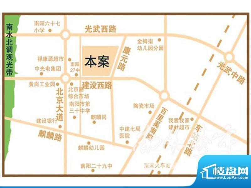 恒信·麒麟首府交通图
