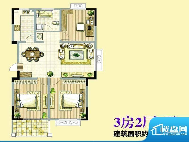 香格里拉花园116平米面积:116.00平米
