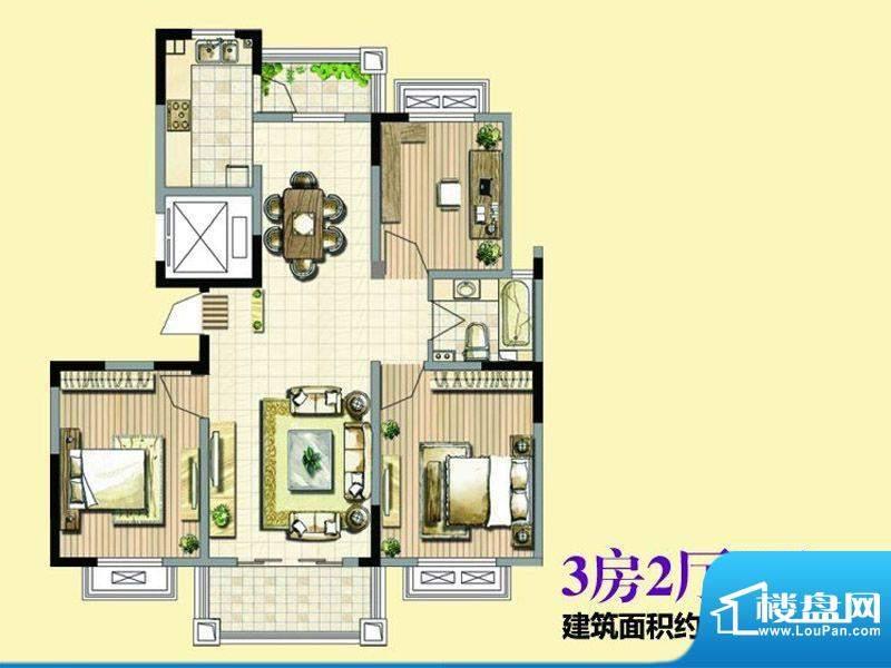 香格里拉花园123.71面积:123.71平米