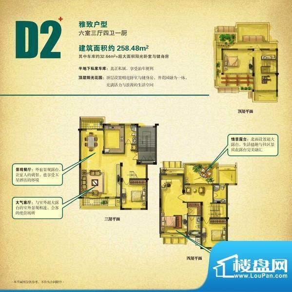 淮海第一城-户型D2面积:0.00平米