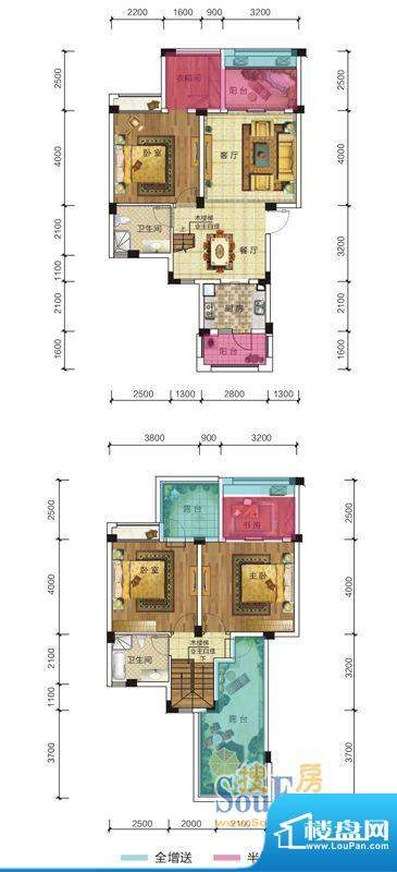 隆源豪庭B3户型 3室面积:127.00平米