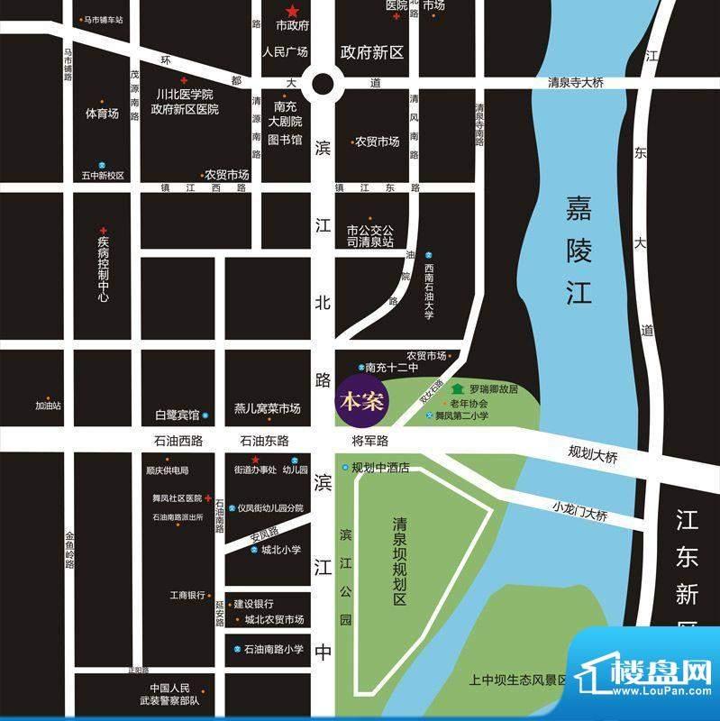 鸿升凯旋城交通图