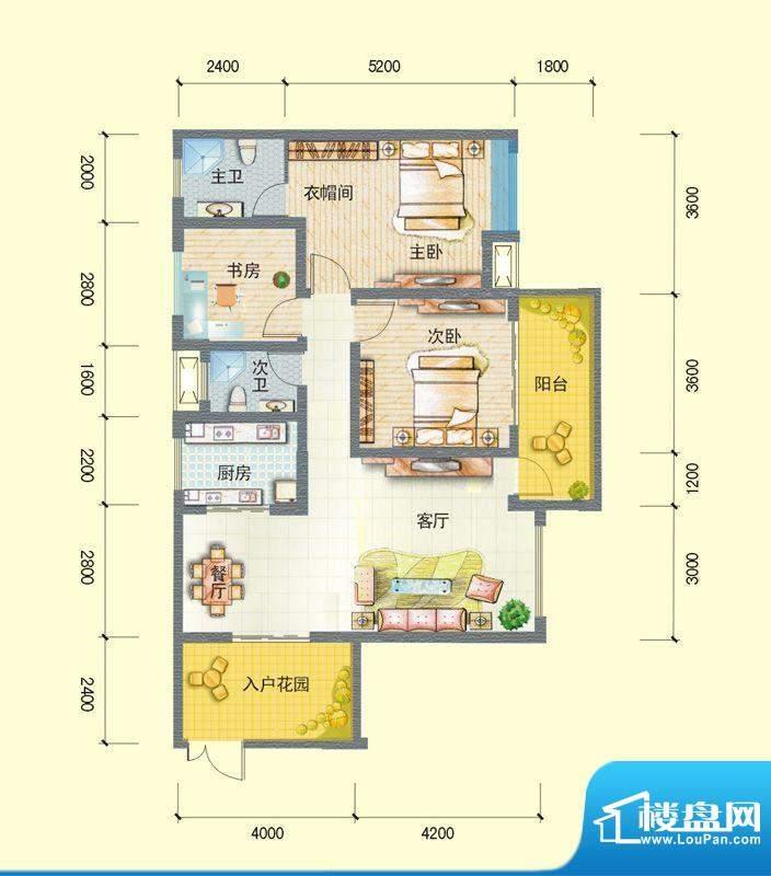 观澜尚郡二期F-1 3室面积:109.32平米