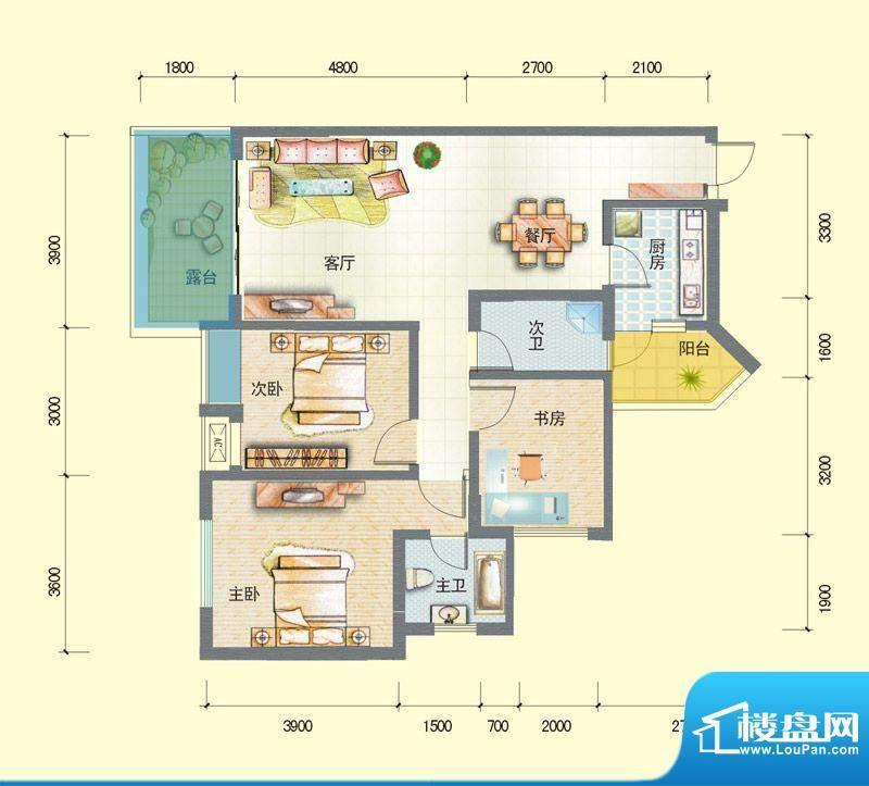 观澜尚郡二期F'-2 面积:98.62平米
