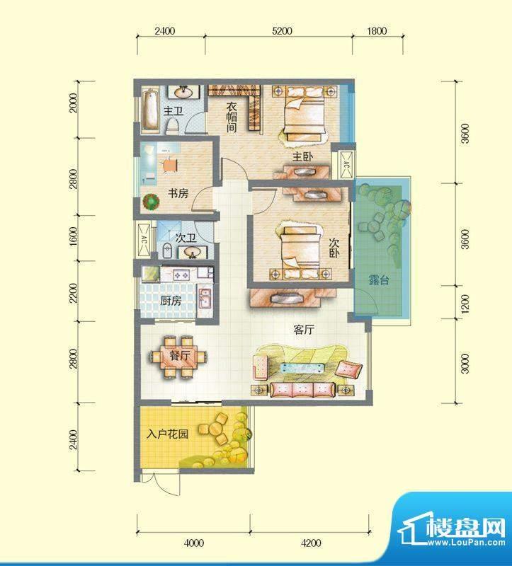 观澜尚郡二期F'-1 面积:105.43平米