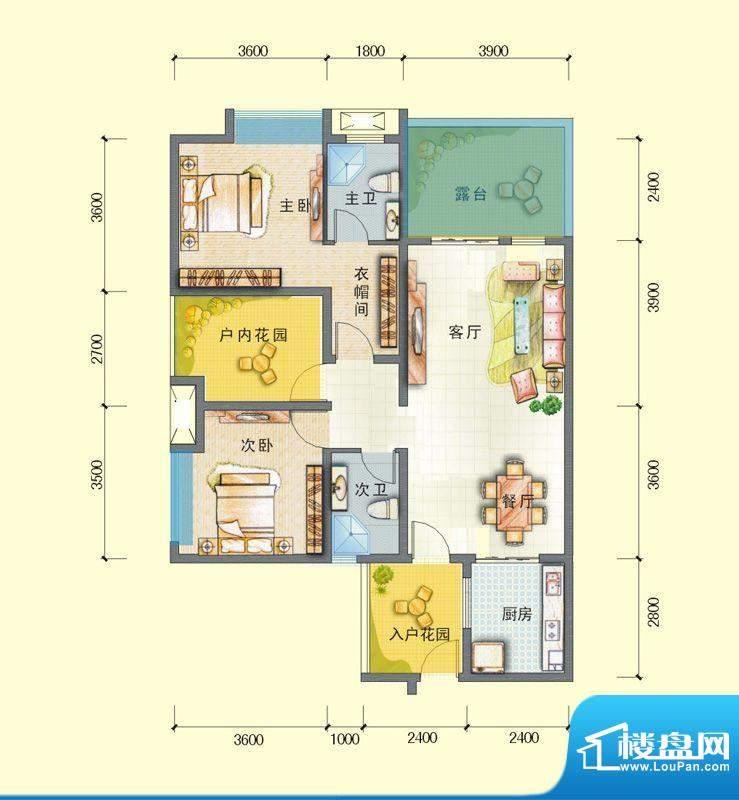 观澜尚郡二期E'-2 面积:100.21平米