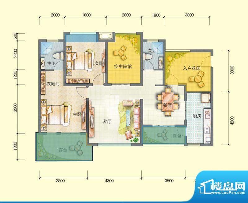 观澜尚郡二期E'-4 面积:107.74平米