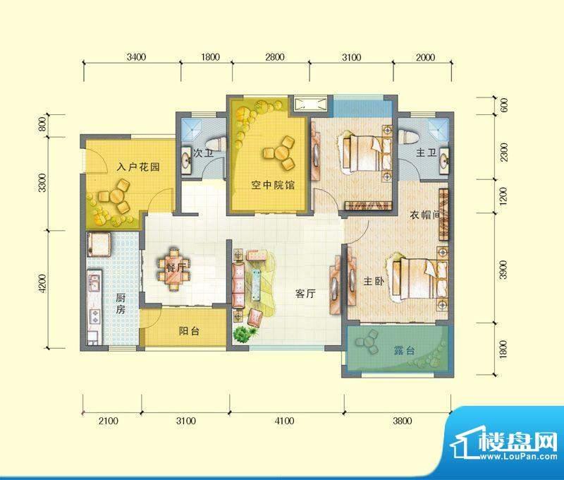 观澜尚郡二期E'-1 面积:103.59平米