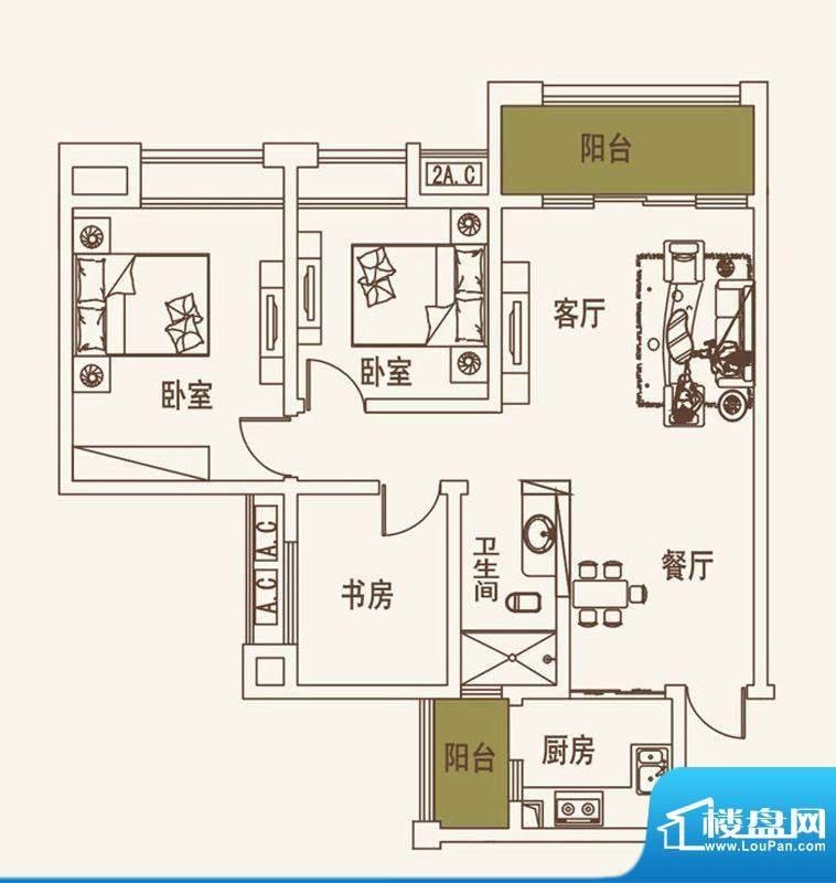 常春藤大院D1-1标准面积:93.20平米