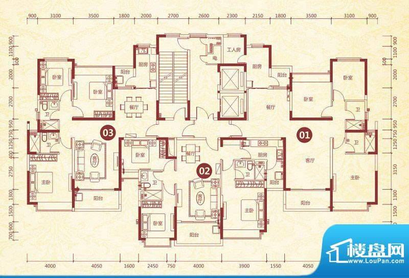 恒大绿洲5号楼标准层面积:144.78平米