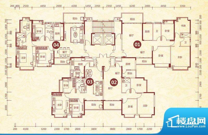 恒大绿洲7号楼标准层面积:144.36平米