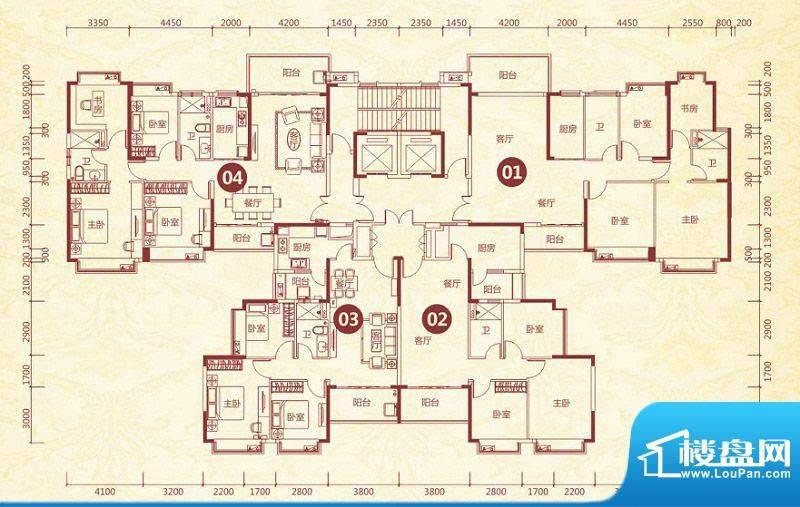 恒大绿洲8号楼标准层面积:141.92平米