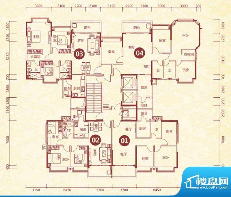 恒大绿洲18号楼标准面积:92.76平米