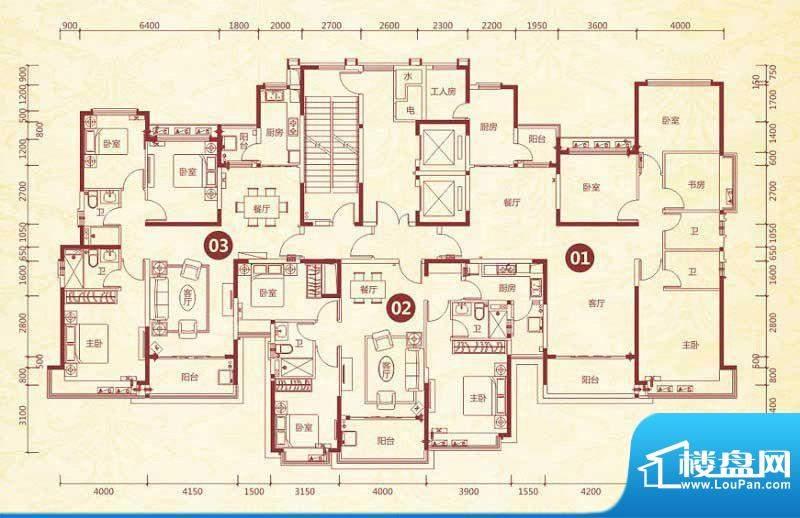 恒大绿洲20号楼标准面积:160.88平米