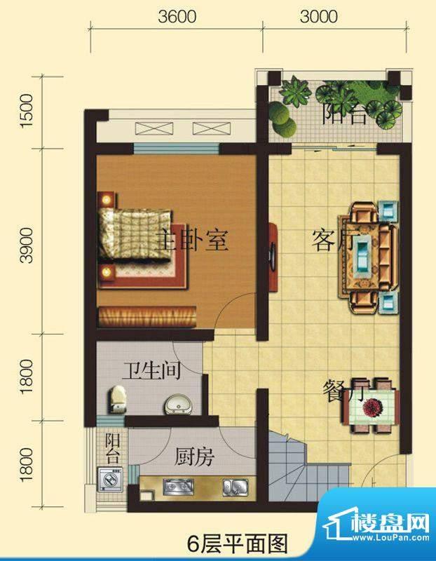 兴业香槟尚城A2 3室面积:93.39平米