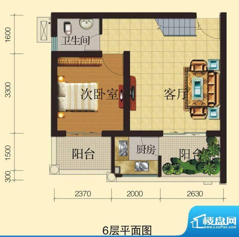 兴业香槟尚城A3 3室面积:82.00平米