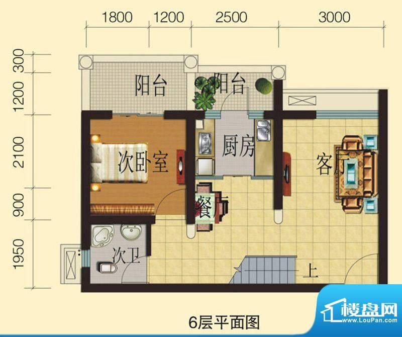 兴业香槟尚城B2 3室面积:86.72平米