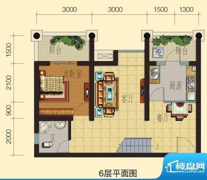 兴业香槟尚城C2 3室面积:91.20平米