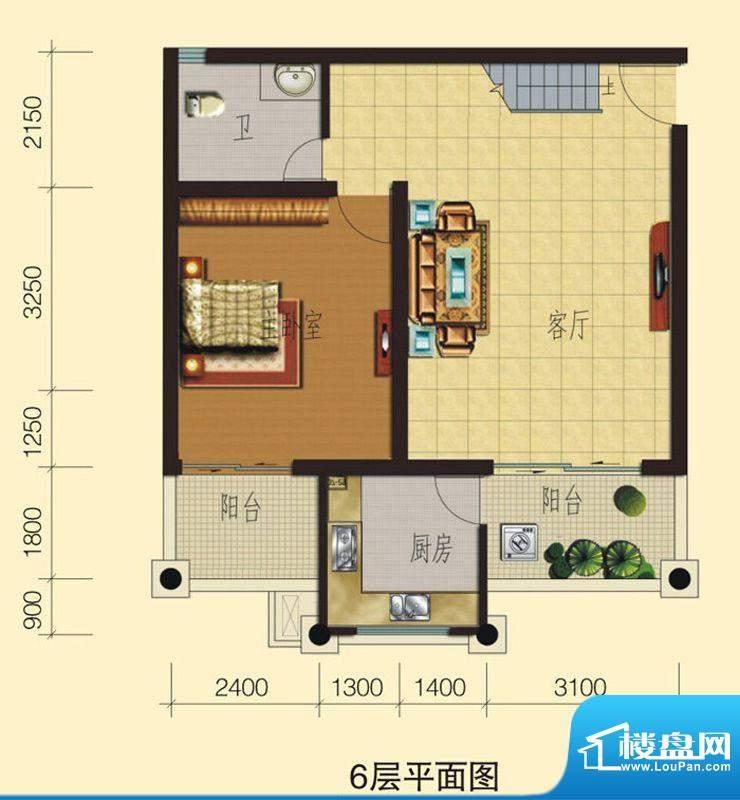 兴业香槟尚城C3 3室面积:118.72平米