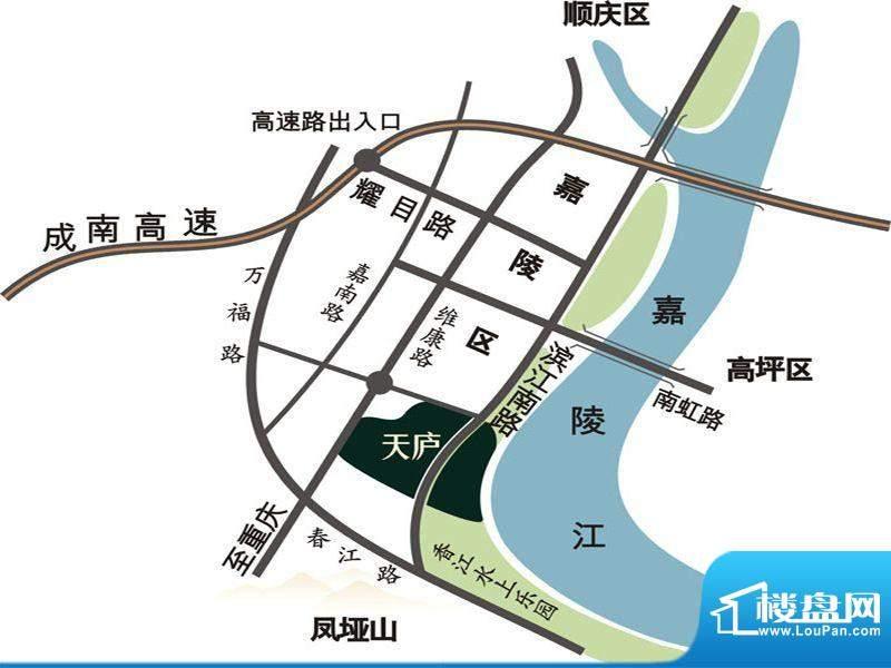 天庐别墅交通图