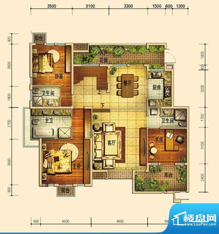 天庐别墅D1(5+1顶墅面积:181.00平米