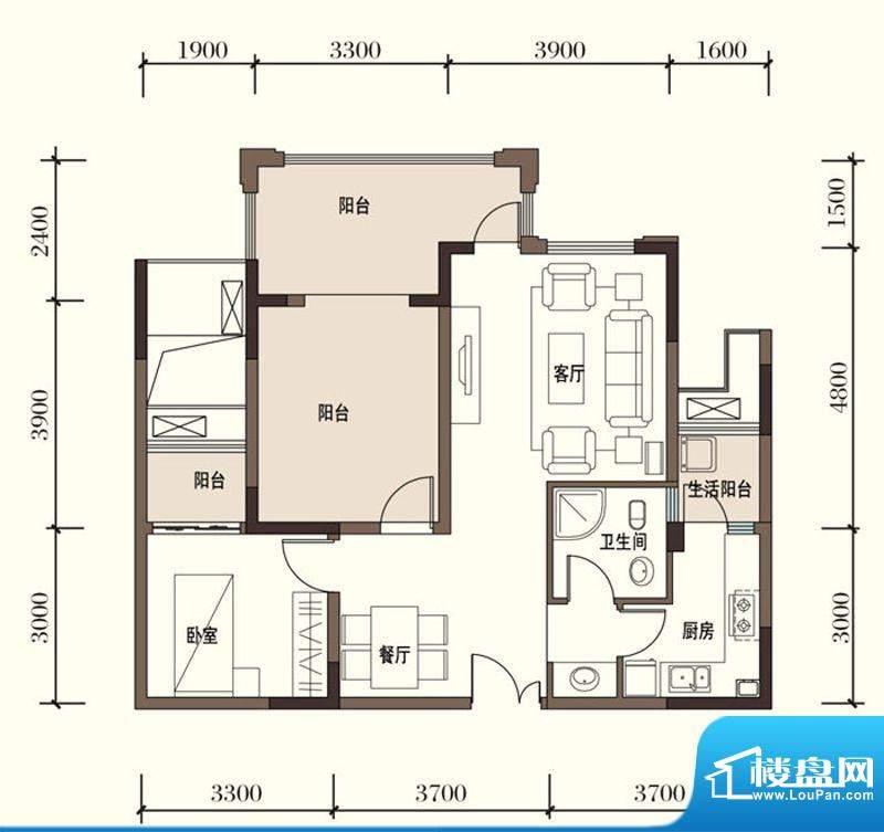 东方国际社区G2-2一面积:77.73平米
