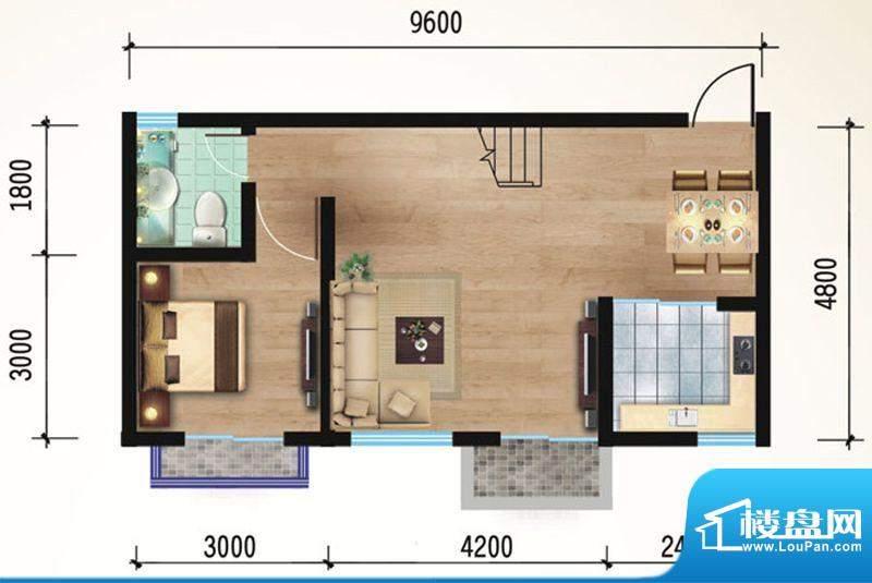 悠山丽景B2两室两厅面积:81.35平米