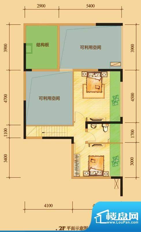 南门一号D3上层 3室面积:123.00平米