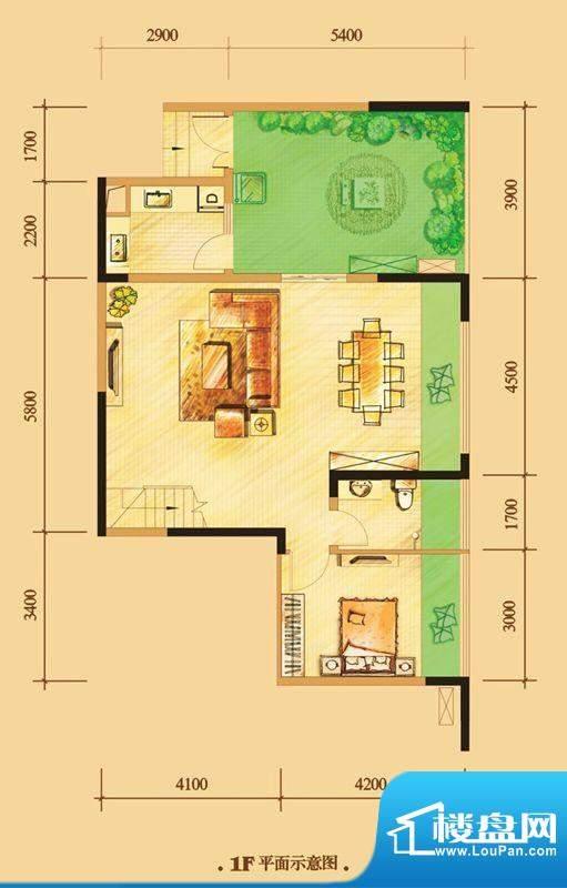 南门一号D3下层 3室面积:123.00平米