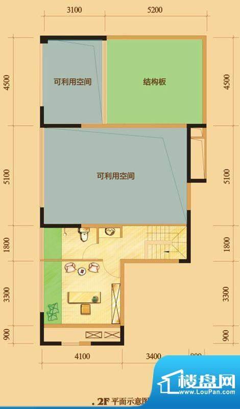 南门一号D4上层 2室面积:111.00平米