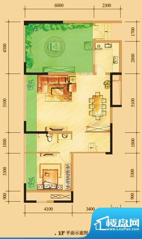南门一号D4下层 2室面积:111.00平米
