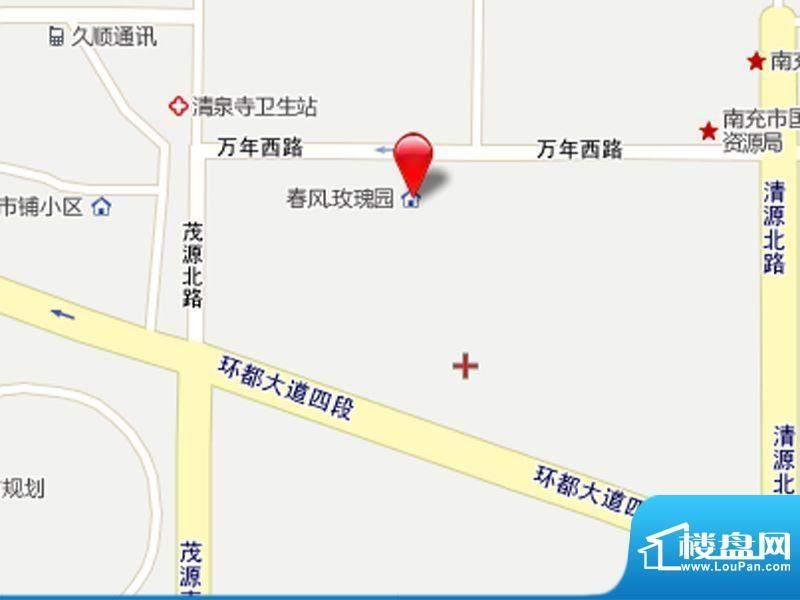 春风玫瑰园交通图