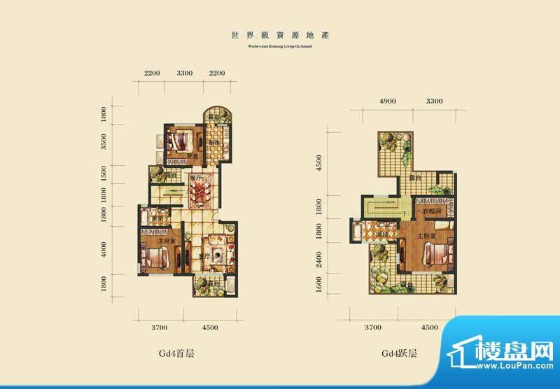 泰合慢城八岛GD4 3室面积:0.00平米