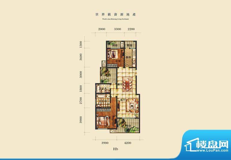 泰合慢城八岛HB 2室面积:0.00平米