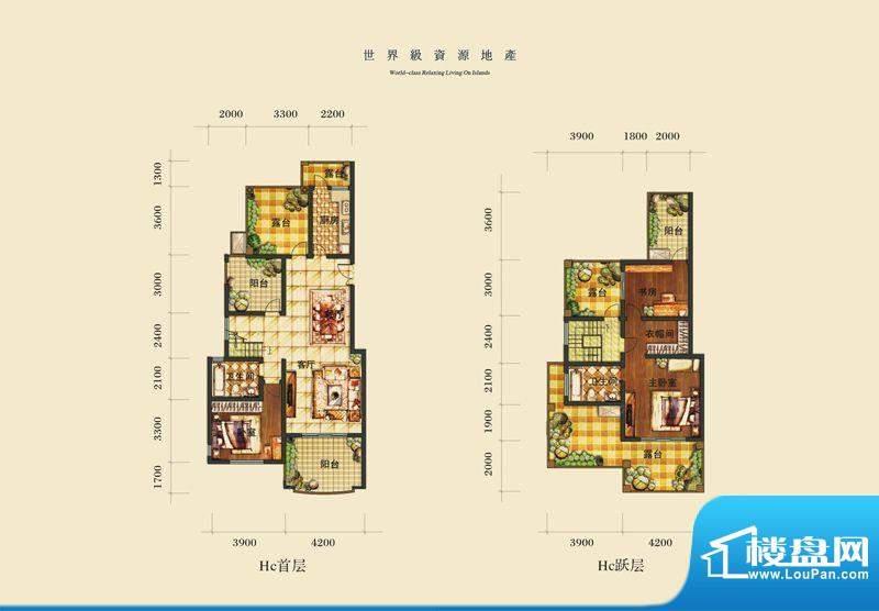 泰合慢城八岛HC 2室面积:0.00平米