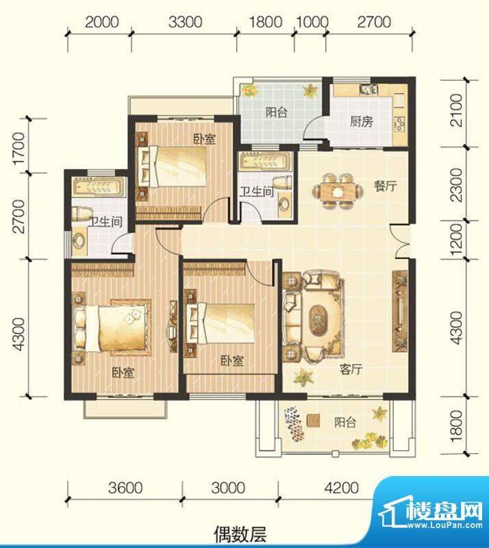龙川半岛A-01-A单元面积:118.84平米