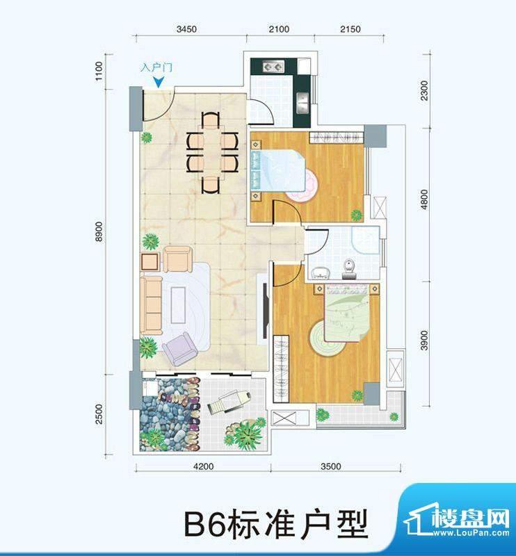 天府明珠B6标准户型面积:0.00平米