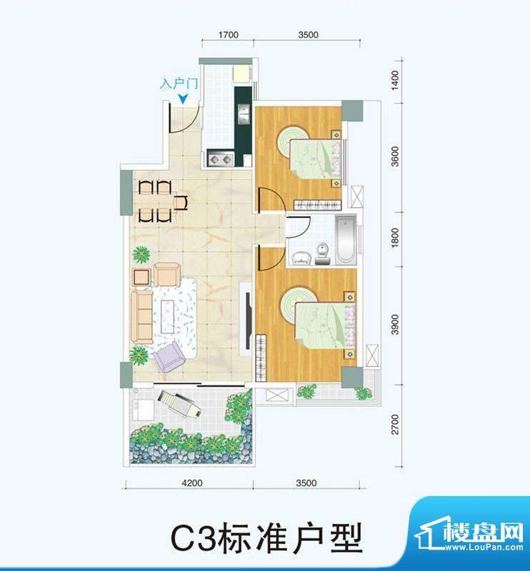 天府明珠C3标准户型面积:0.00平米