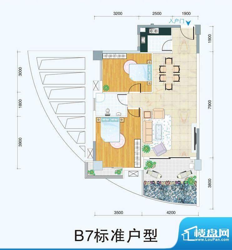 天府明珠B7标准户型面积:0.00平米