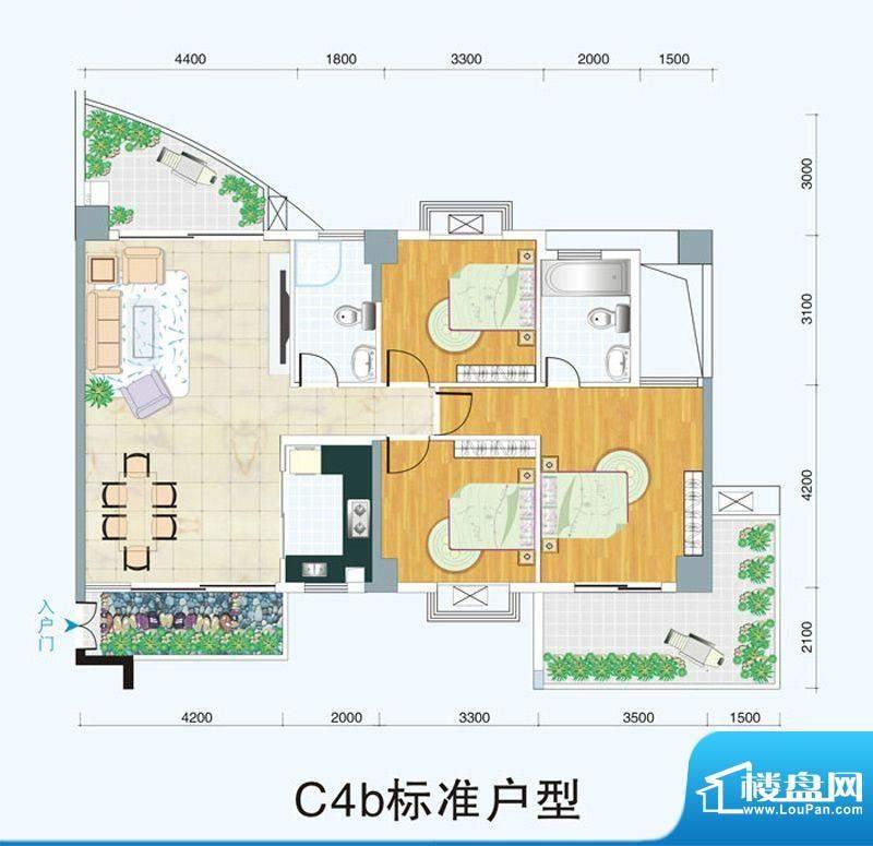 天府明珠C4b标准户型面积:0.00平米